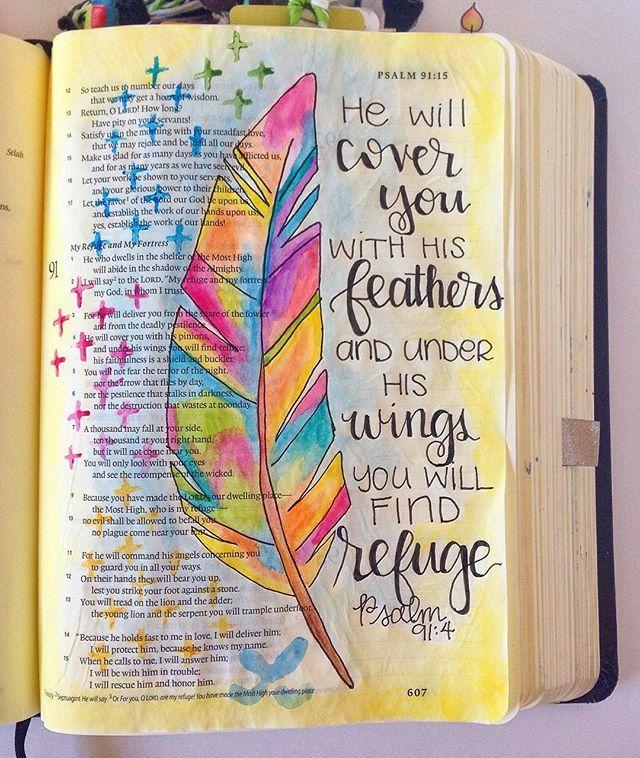 Bible Journaling by Grace Veenker @graceveenker | Psalm 91 ...