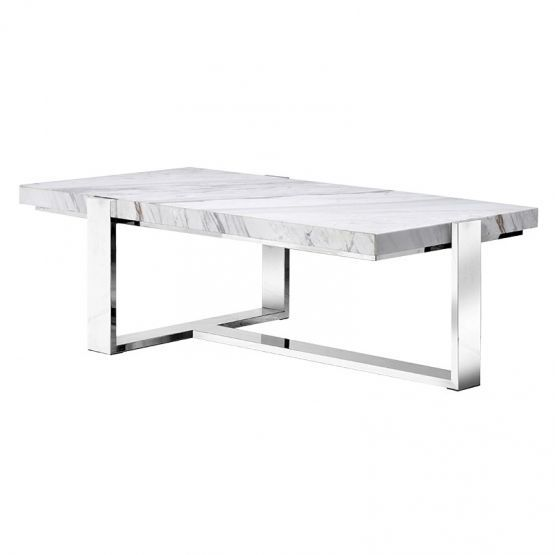 Buy the Steel and Marble Coffee Table with free delivery from Turnbull and Thomas