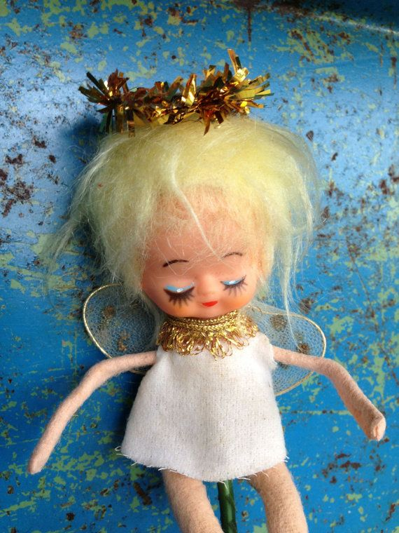 Vintage Christmas Angel Pick Japan Tinsel by VintageChristmasJunk, $10.00