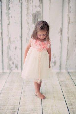 Bimaro Baby Madchen Babykleid Cecile Creme Beige Mit Koralle Blumen Tull Taufkleid Taufe Hochzeit Festlich Kleid Madchen Hochzeit Hochzeitskleid Baby Taufkleid