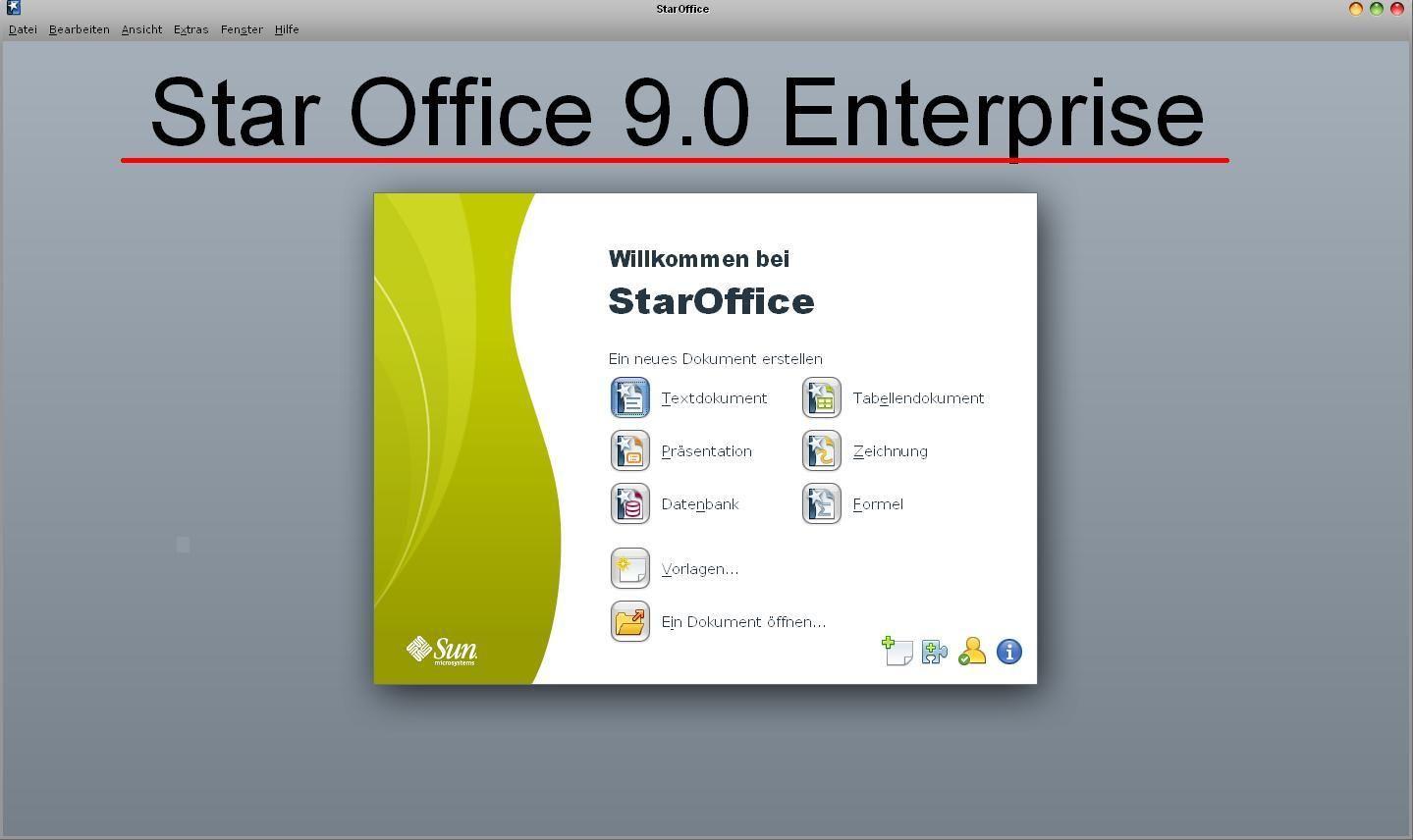 staroffice standard 9.0