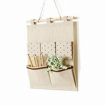 Wall Hanging Storage 5-pocket wall hanging storage organizer bag, customized logos are