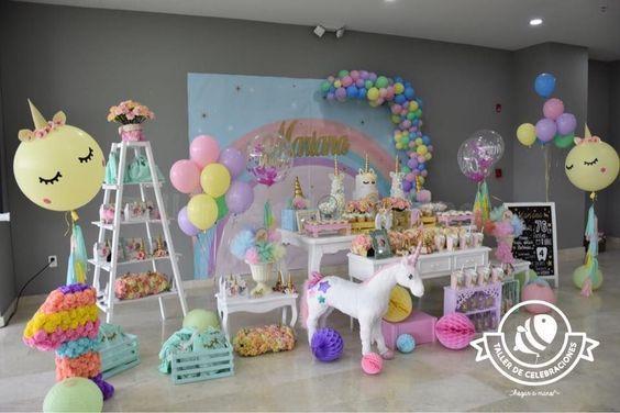 Fiestas infantiles de unicornios for Diseno de mesa de unicornio