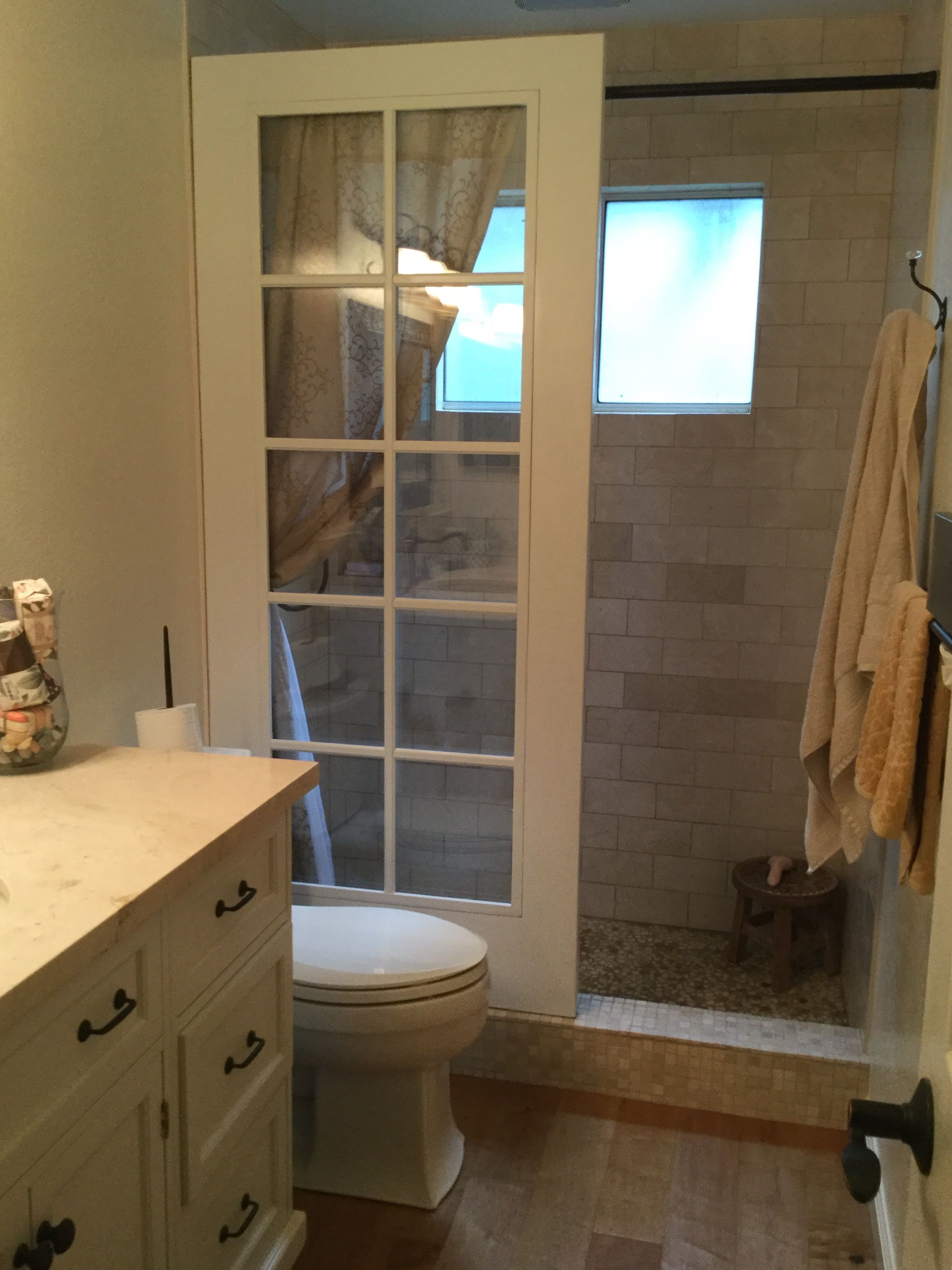Upcycled French Door Walk In Shower Courtesy