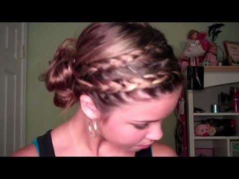 Double Braided Side Bun Hair Tutorial. It's pretty amazing what these youtube teenage silly little girls can do!
