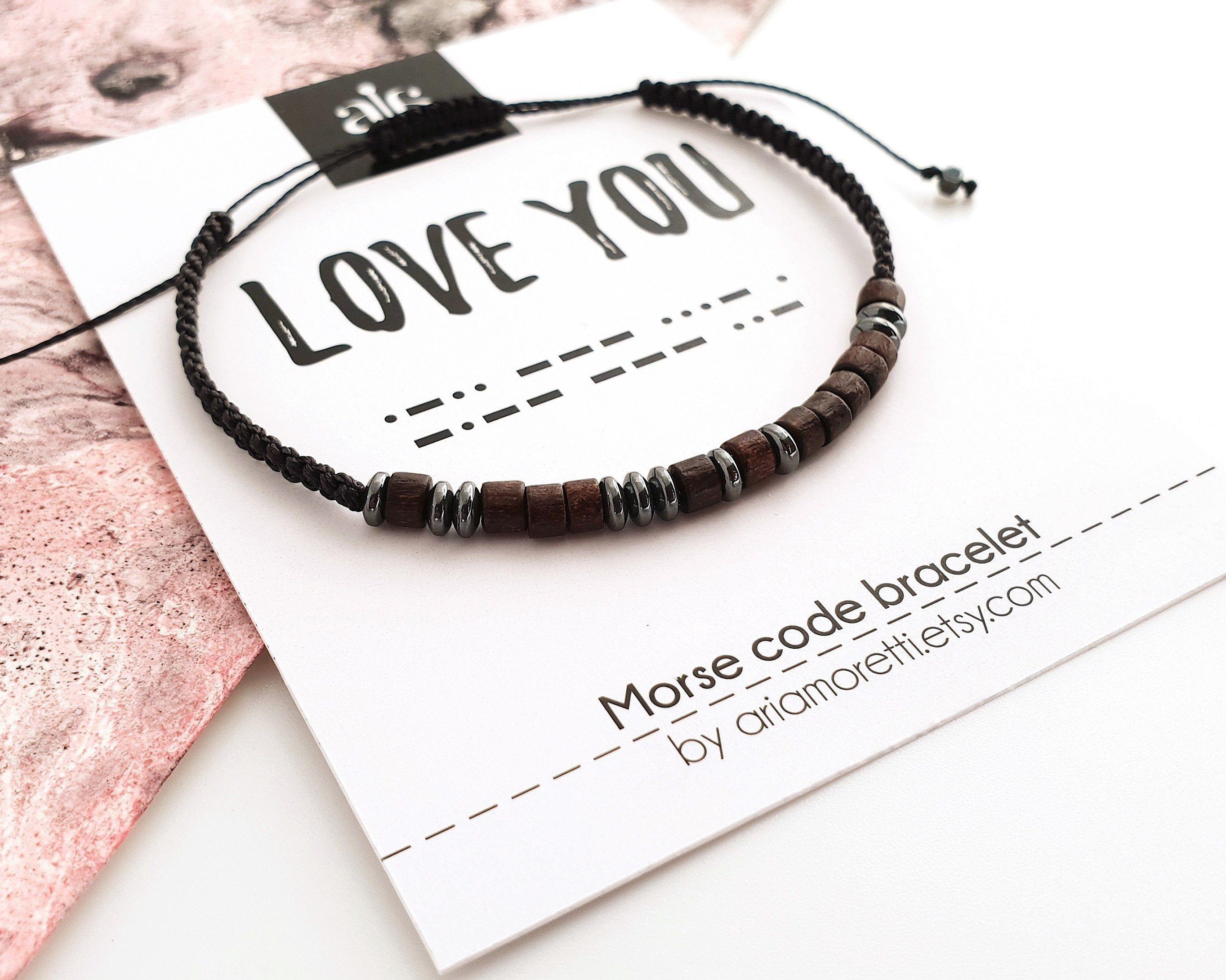 Love You Personalized Mens Bracelet Morse Code Bracelet Etsy In 2020 Boyfriend Anniversary Gifts Mens Anniversary Gifts Morse Code Bracelet