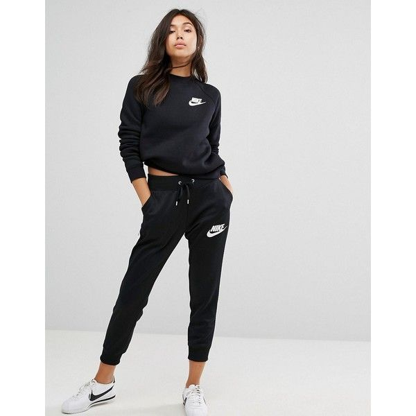 Nike Polyknit Tracksuit Pants 55 Liked On Polyvore Featuring Activewear Activewear Pants Black Nike Joggers Outfit Womens Joggers Outfit Tracksuit Women