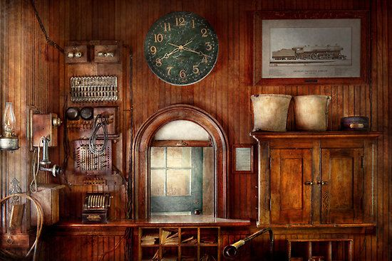 Train - Office - The ticket takers window by Mike  Savad
