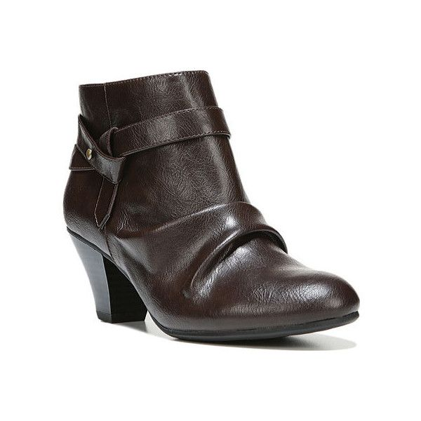 Women's Life Stride Georgette Ankle Boot - Dark Chocolate Polyurethane... ($70) ❤ liked on Polyvore featuring shoes, boots, ankle booties, lifestride boots, slouchy ankle boots, slouch bootie, slouchy booties and slouchy ankle booties