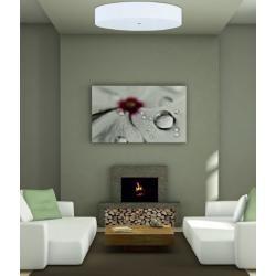 Photo of Hufnagel plafoniera Alea, tessuto chintz bianco, vetro acrilico, Led adatto 60,00 cm 942453-91 HufnagelH
