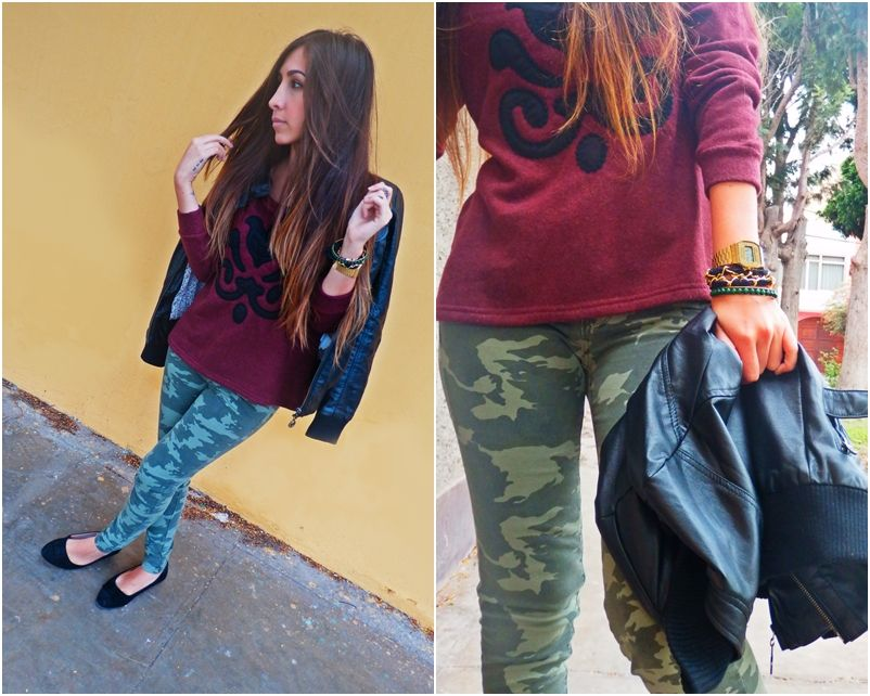 Outfit Marzo 2! Military jeans - New Rachel Rose Bracelet