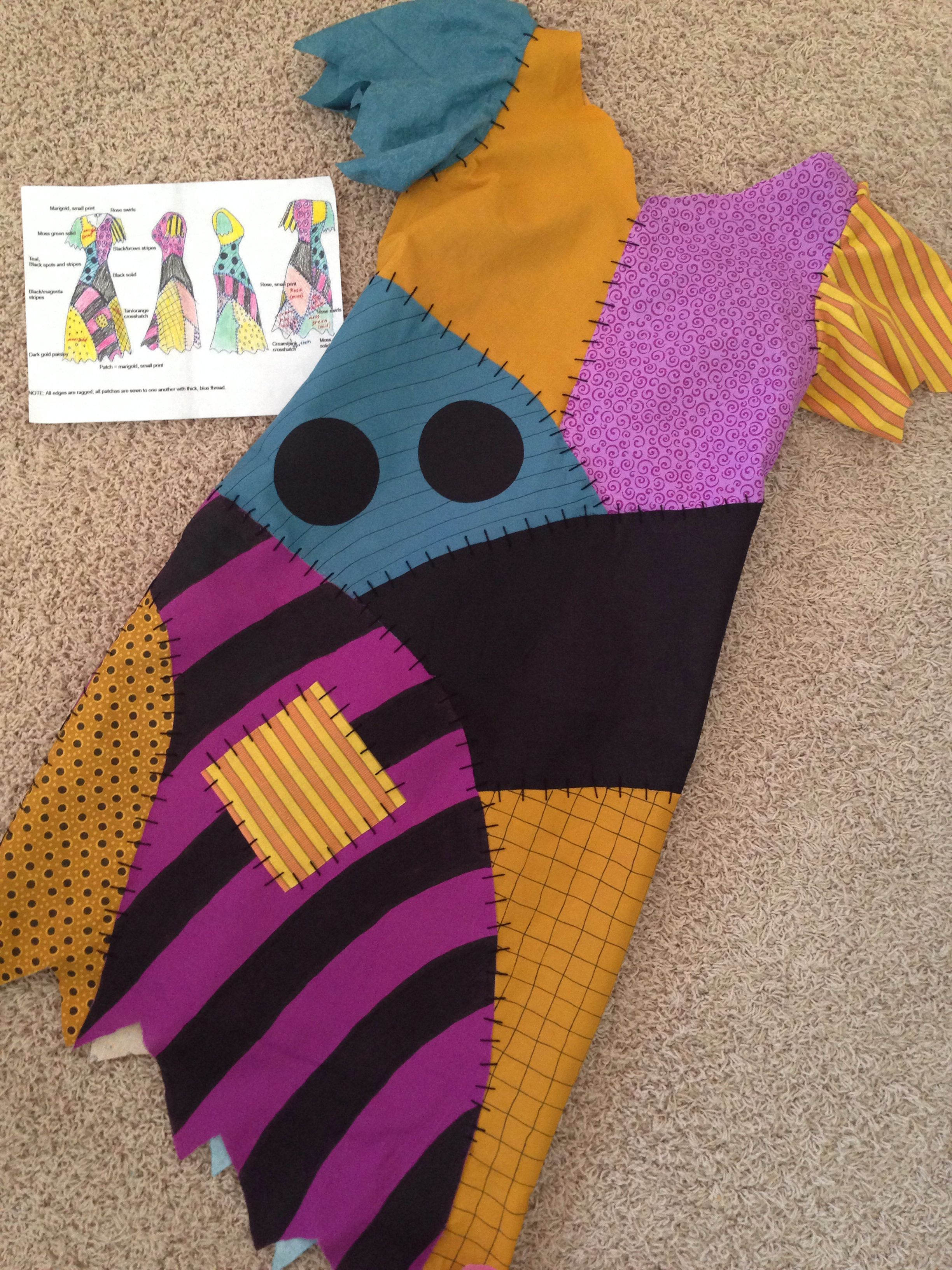 Completed Sally Dress Nightmare Before Christmas Pinterest