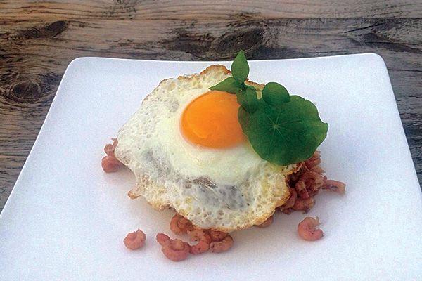 Leckeres Friesenbrot mit #Krabben und Ei