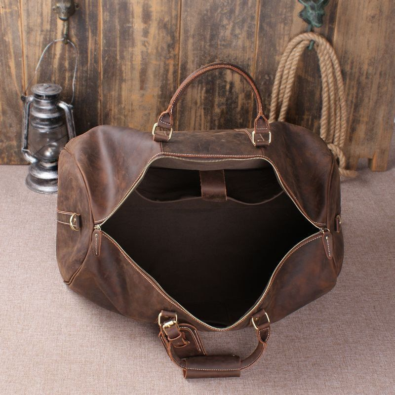 Handmade Vintage Leather Holdall Duffle Bag for Men – ROCKCOWLEATHERSTUDIO 52f823c048