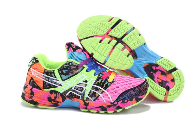 Wholesale Cheap Asics Gel-noosa TRI 8 Mens Hot Pink Green Sky Blue Orage  Confetti Your Best Choice