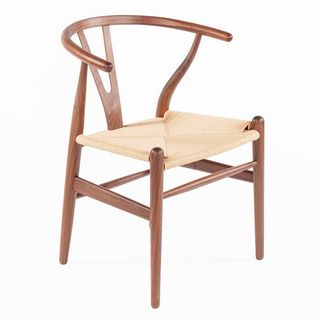 baxton studio wishbone modern brown wood dining chair with light