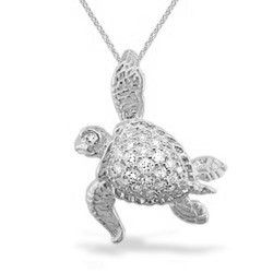 White gold na hoku sea turtle pendant with diamonds chain white gold na hoku sea turtle pendant with diamonds chain additional honu collection aloadofball Image collections