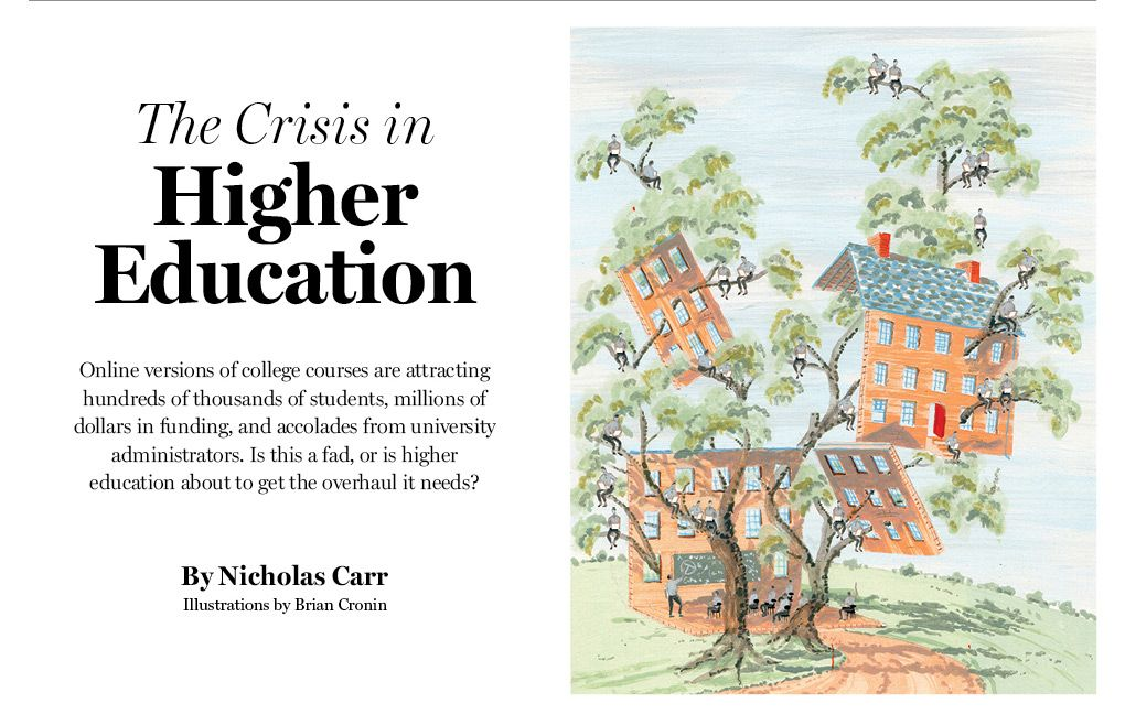 the crisis in higher education higher education college and the crisis in higher education mit technology review online versions of college courses