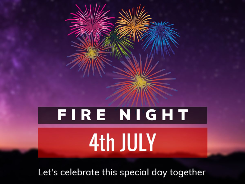 A Facebook Post Template With A Fireworks And Celebration Theme Insert Your Own Message And Invitation Text Invitation Text Templates Special Day