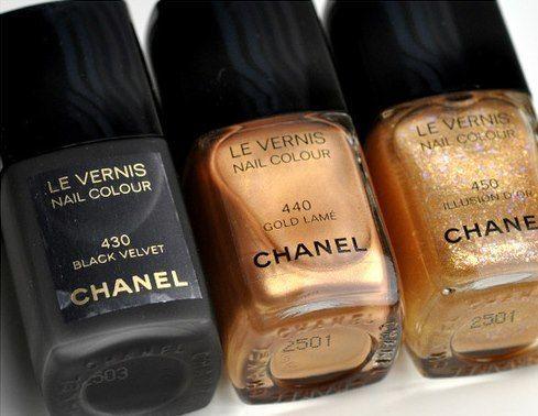 Beauty I make up I Chanel nailpolish I Le Vernis Nail Colour I black velvet, gold & bronze nail polish @monstylepin