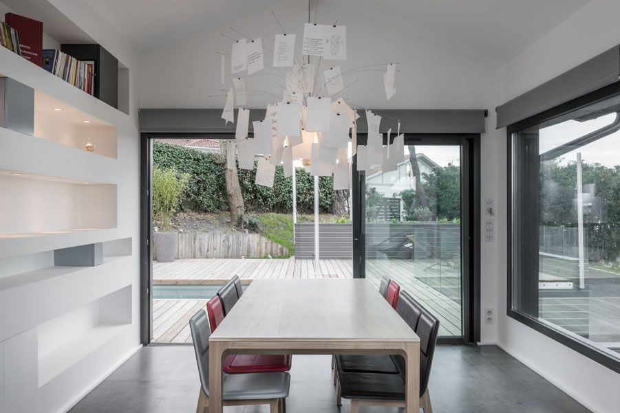 Our Laia table, bench and chairs in a private house in Biarritz
