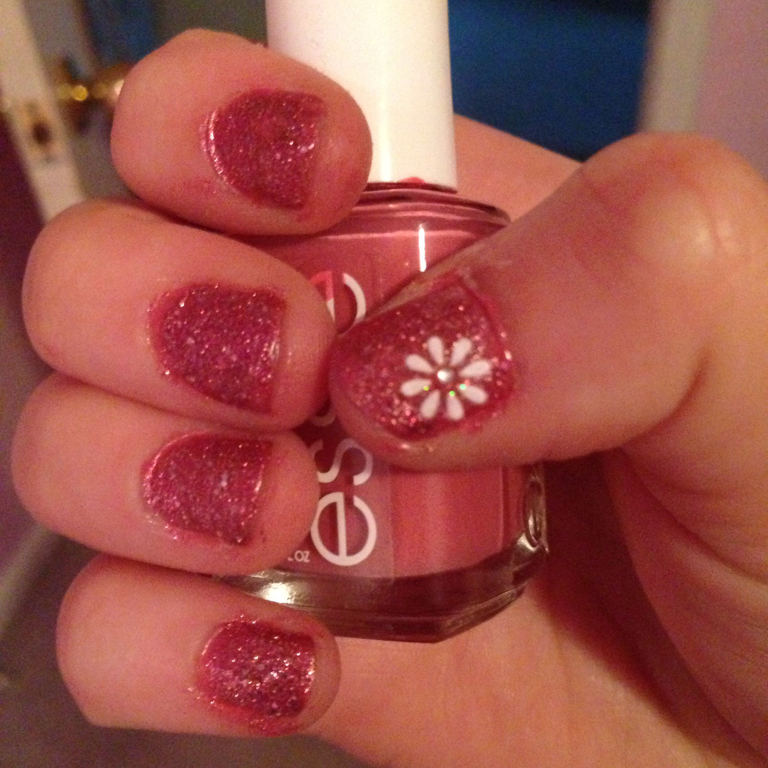 Easy to do! Step 1: 2 coats of Essie nail lacquer (shade 986) Step 2 ...
