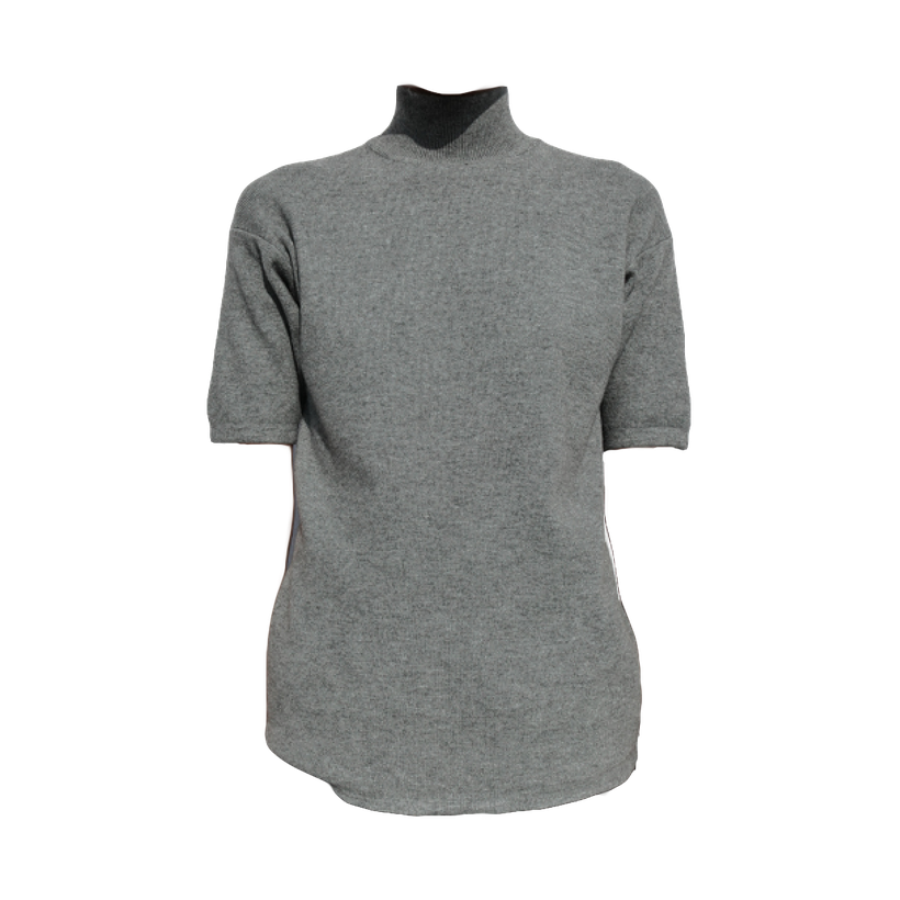 Wool Short Sleeve Sweater Top