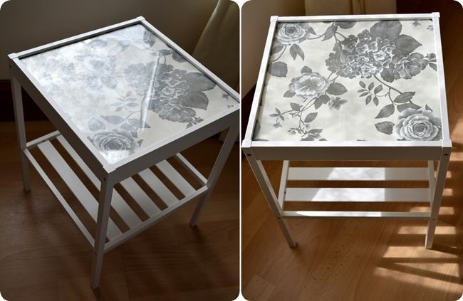 Nesna Ikea hack: paint the wood, put in paper/wallpaper under the glass | home work! | Pinterest ...