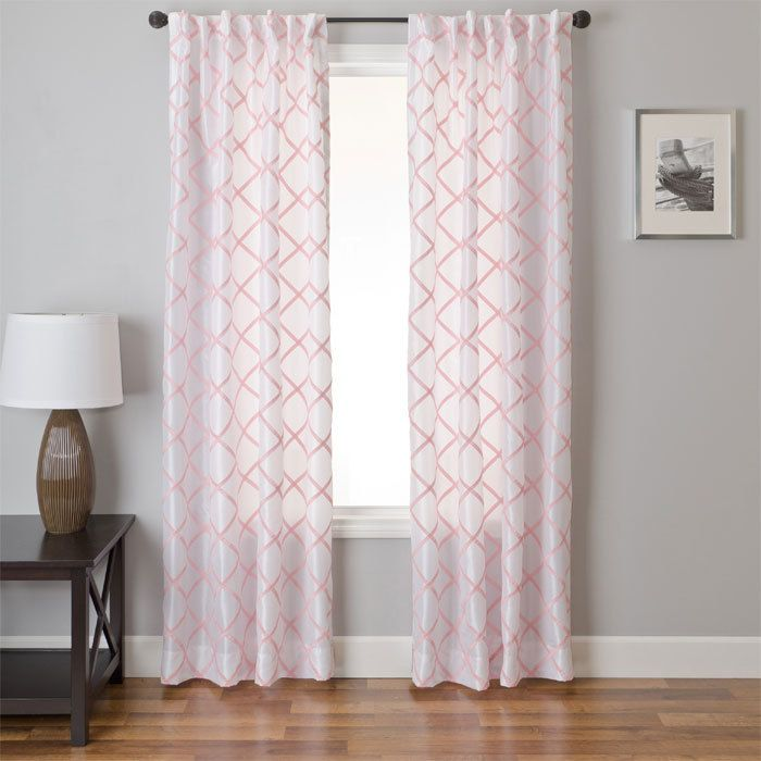 Soft pink curtains for a nursery...but they let in so much