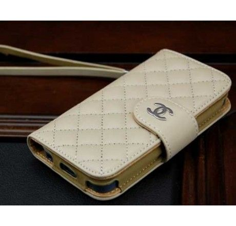 Coco Chanel iPhone 5 Case Wallet Beige - Free Shipping ...