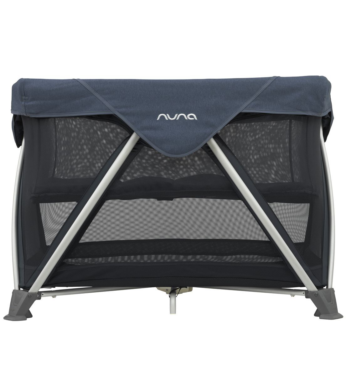 Nuna Sena Aire Full Size Playard Aspen Leather diaper