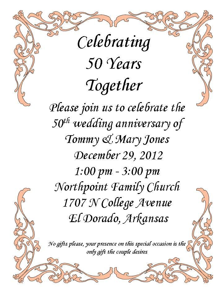 50th Anniversary Party! | 50th Anniversary Party | Pinterest ...