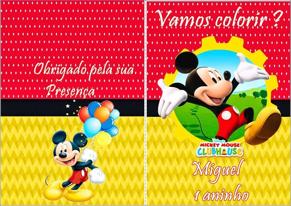 Capa Para Livro De Colorir Mickey