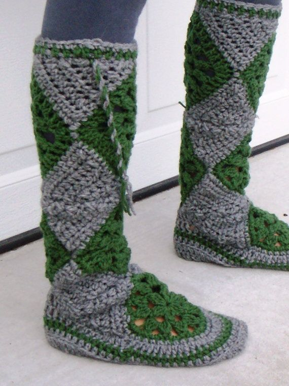 Crochet Muk Luk Pattern Crocheted Mukluk Boot Crochet Pinterest