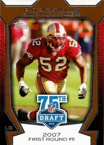 Patrick Willis cards | 2010 Topps Draft 75th Anniversary Insert Card #75DA13 Patrick Willis