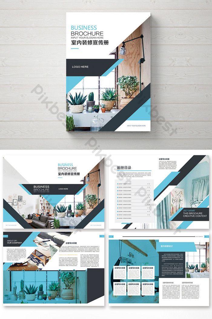 Simple Green Fashion Home Interior Decoration Brochure Psd Free Download Pikbest Portofolio Desain Interior Arsitektur Tata Letak