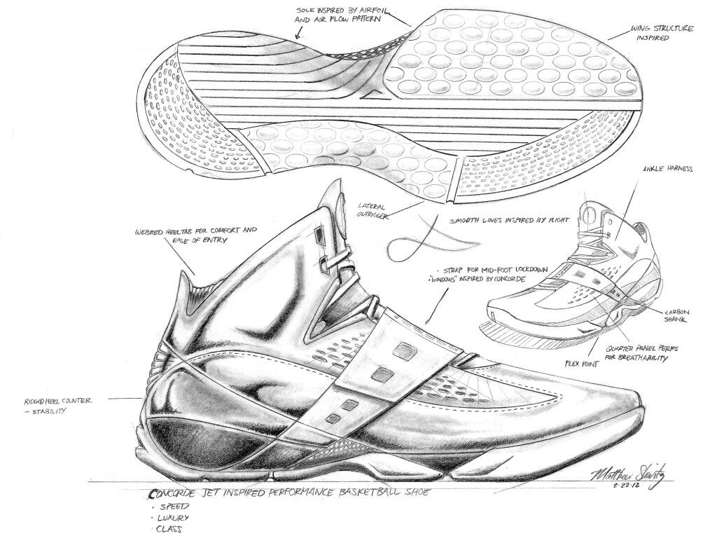 This is a picture of Witty Shoe Design Drawing