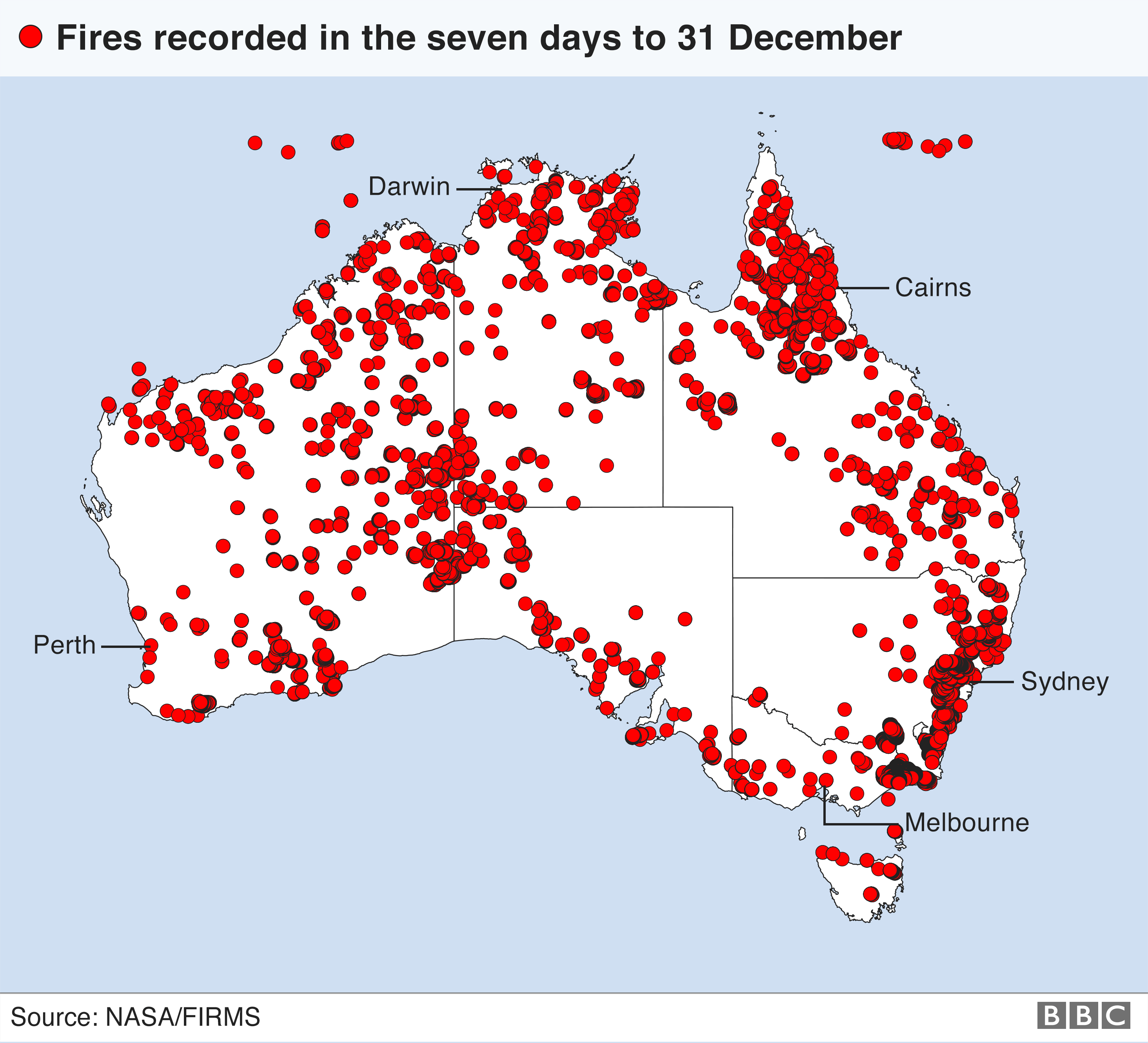 A visual guide to Australia's bushfire crisis Australia