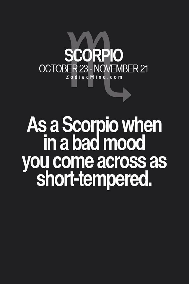 Scorpio mood swings
