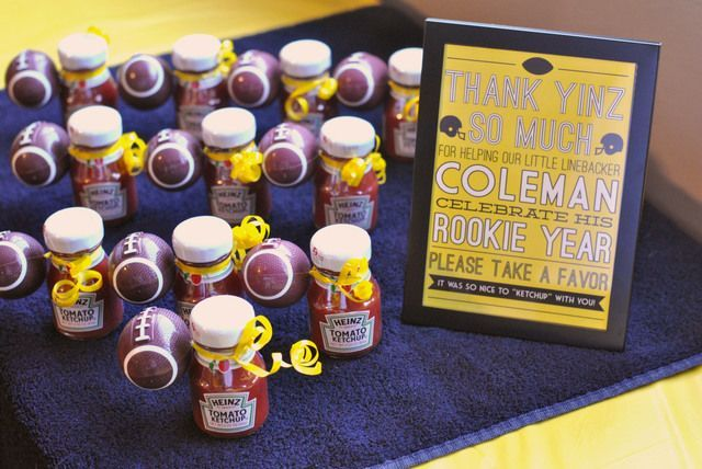 Steelers wedding decorations favors at a football party steelers wedding decorations favors at a football party footballparty favors junglespirit Choice Image