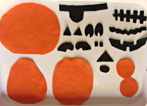 easy halloween craft felt jack o lantern puzzles - Halloween Simple Crafts