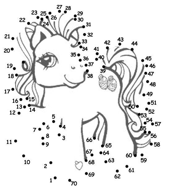 My Little Pony Dot to Dot...love the idea of doing this as a ...