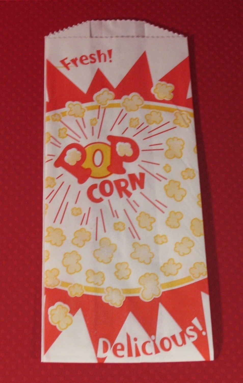 Retro small popcorn bag qty by sweettreatssupplies on etsy
