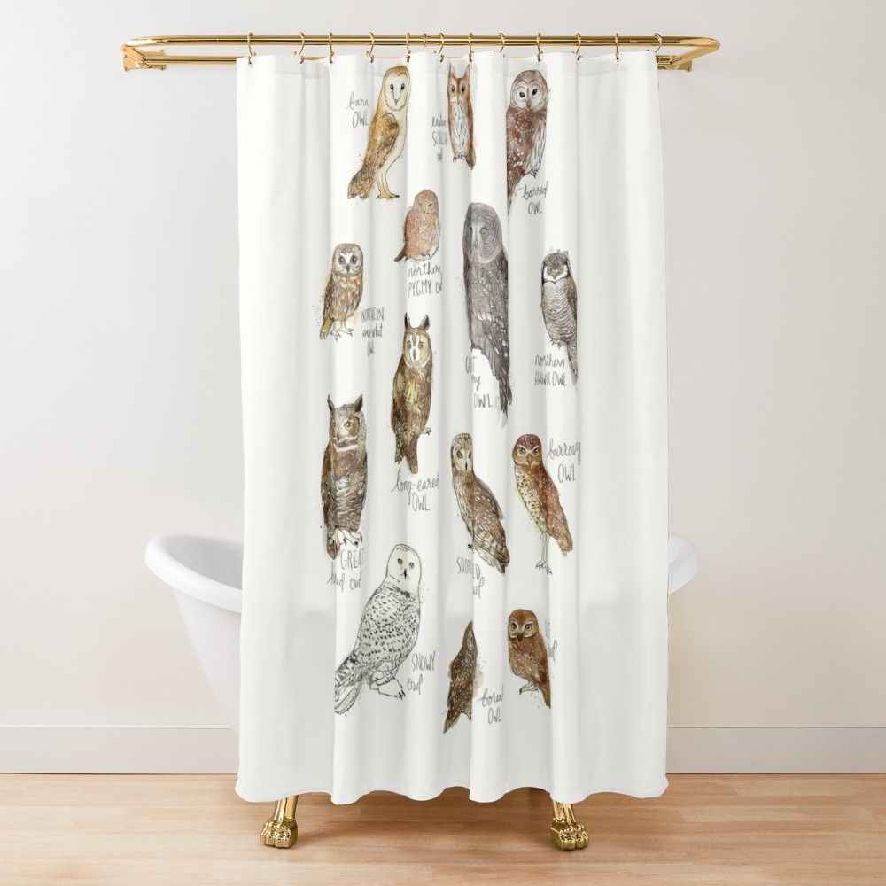Owls Shower Curtain By Amy Hamilton In 2020 With Images Designer Shower Curtains Owl Shower Shower Curtain
