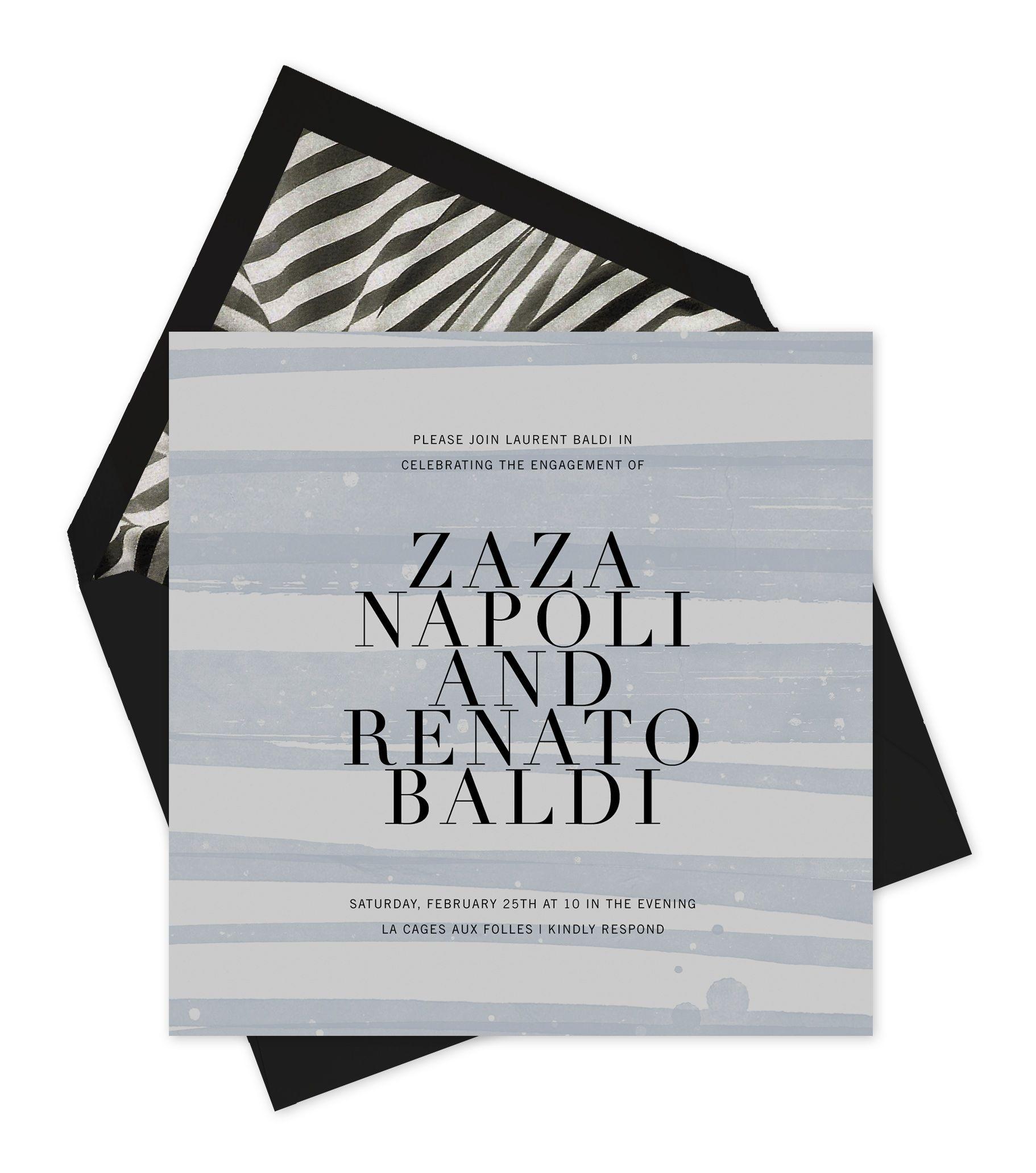Elegant font, laser-printed on plain paper, individually streaked ...