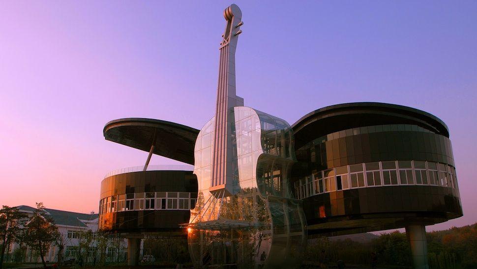 Building Piano and Violin, Huainan, China