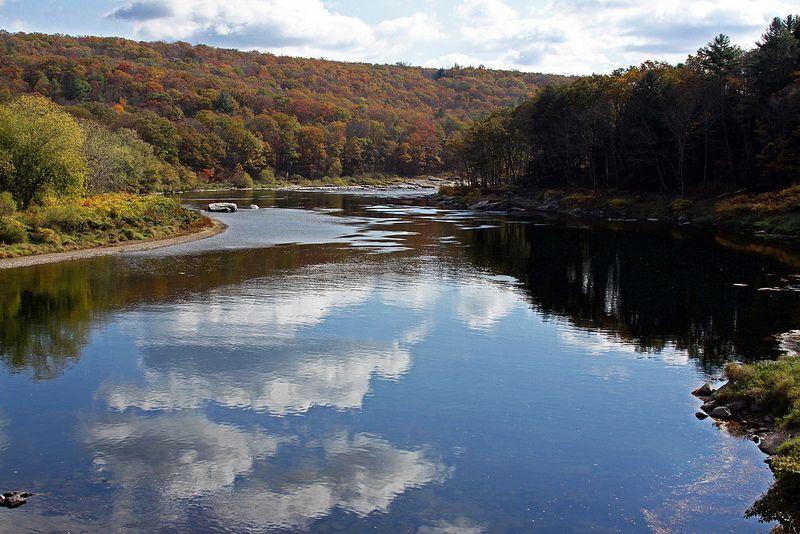 Delaware River From Milanville Bridge