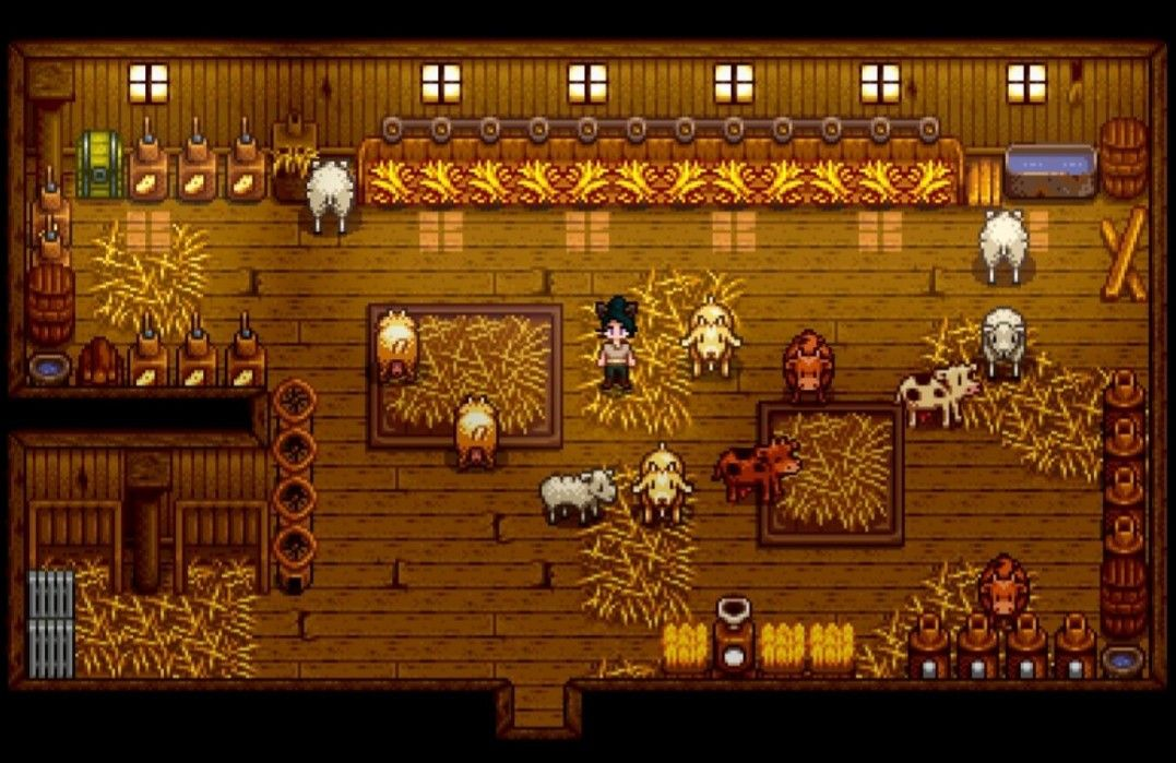 The Barn Stardew Valley Deluxe Barn Farm Animals Cows Goats Sheep