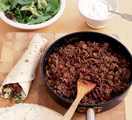 Diy mexican chilli wraps recipe mexicans recipe recipe and food diy mexican chilli wraps recipe recipes bbc good food forumfinder Images