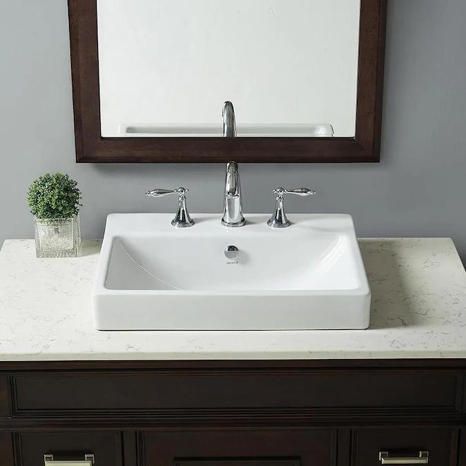 Jacuzzi Anna Farmhouse White DropIn Rectangular Bathroom